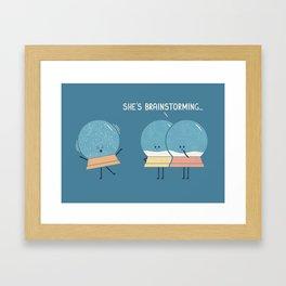 Brainstorming (Alt Version) Framed Art Print