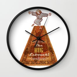 This rug ties the room together… The dude The big Lebowski  Wall Clock