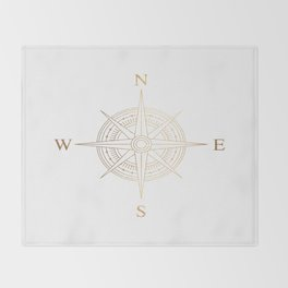 Gold Compass Throw Blanket