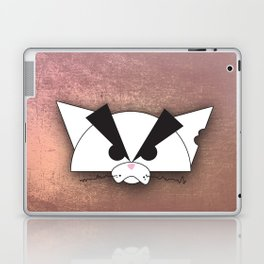 Crabby Cat - white Laptop & iPad Skin