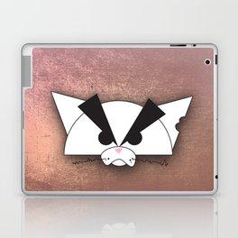 Crabby Cat - white Laptop & iPad Skin