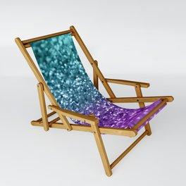 Purple Teal MERMAID Girls Glitter #1 #shiny #decor #art #society6 Sling Chair