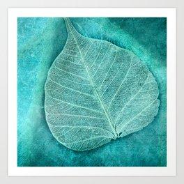Turquoise Leaf 2 Art Print