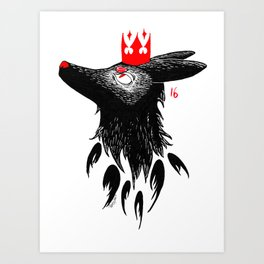 Shadow prince Art Print