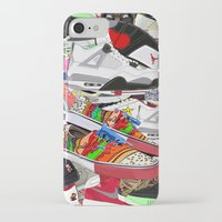sneakers iPhone & iPod Cases featuring SNEAKERS by OLKA OSADZIŃSKA WWW.ALEOSA.COM