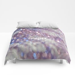pink, sparkles, blue, glitter, bokeh, natural light, imagine, braille,artwork, Comforters