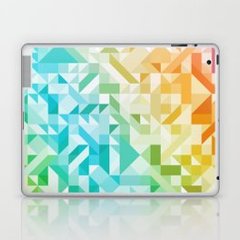 Colorful Geometric Pattern Saturated Rainbow Pattern Design (Red Pink Orange Yellow Green Blue) Laptop & iPad Skin