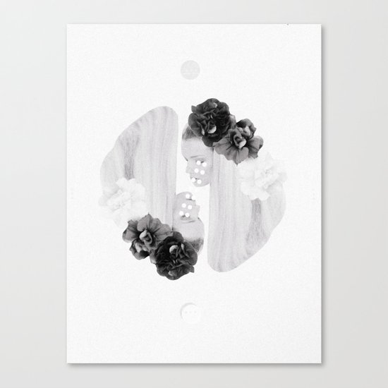selene and eos (black and white) Canvas Print