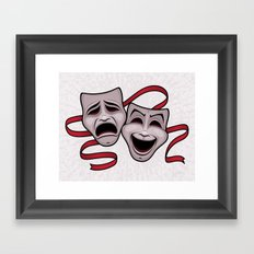 Comedy And Tragedy Theater Masks Framed Art Print