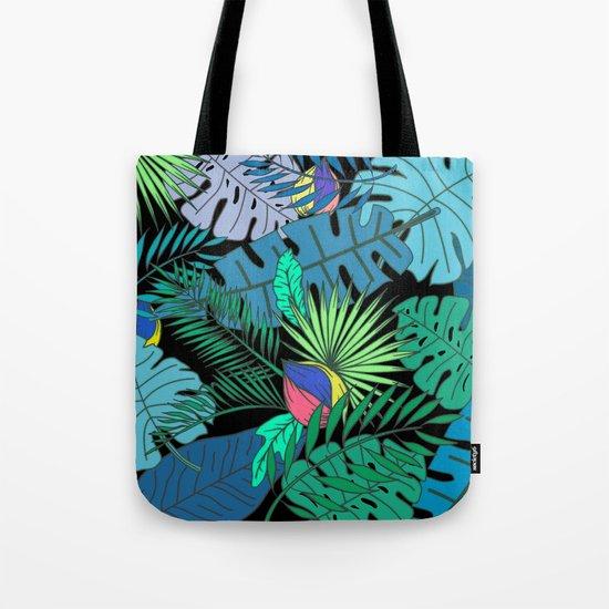 TROPICAL GARDEN B (abstract) Tote Bag