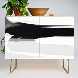 Soft Determination Black & White Credenza