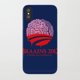 Vote Braains 2012 - A Zombie You Can Believe In iPhone Case
