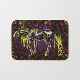 Yellow Love Horse Bath Mat