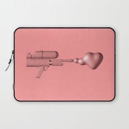 Bubble Gum Gun - Make Love Not War Laptop Sleeve