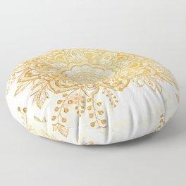 Queen Starring of Mandala-Gold Sunflower I Floor Pillow