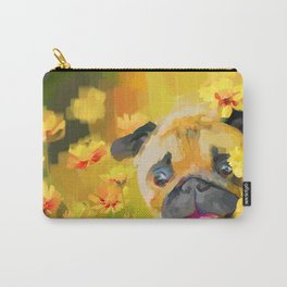 Pug in Daisies Carry-All Pouch
