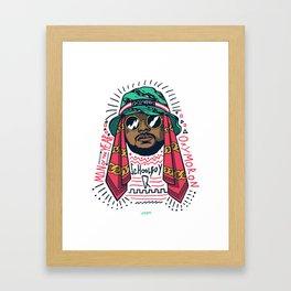 SchoolboyQ Framed Art Print