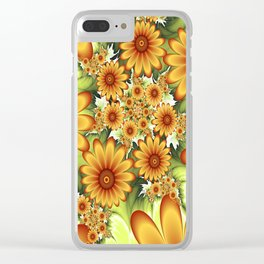 A Floral Dream Of Summer, Fractals Art Clear iPhone Case