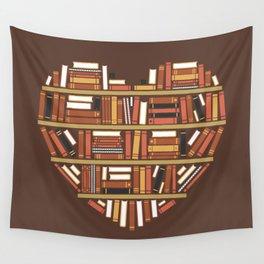I Heart Books Wall Tapestry