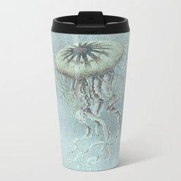Jellyfish Underwater Aqua Turquoise Art Metal Travel Mug