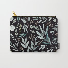 Black Eucalyptus Pattern Carry-All Pouch