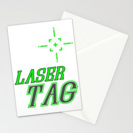 Funny Laser Tag Party T-Shirt Mode On Laser tag Stationery Cards