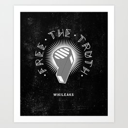 Wikileaks - Free The Truth - Blow the Whistle Political Illustration Art Print
