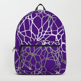 Pattern and Light purple silver Backpack
