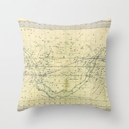 A Celestial Planisphere or Map of The Heavens Throw Pillow