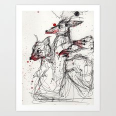 Frothing Art Print