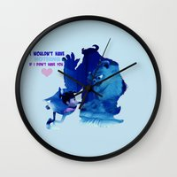 monster inc Wall Clocks featuring Monsters Inc by Keri Lynne