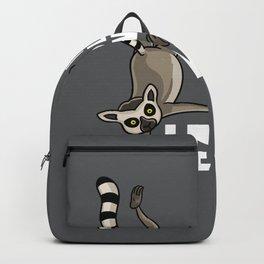 Lemur Monkey Funny Vintage Retro Backpack