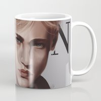 snk Mugs featuring SnK Magazine: Erwin by putemphasis