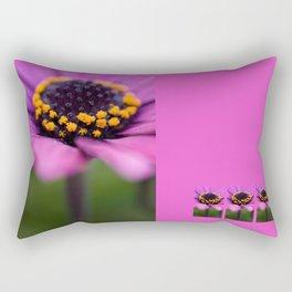 Pink flower, yellow black heart Rectangular Pillow