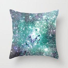 Eagle Nebula Pastel Sea Throw Pillow