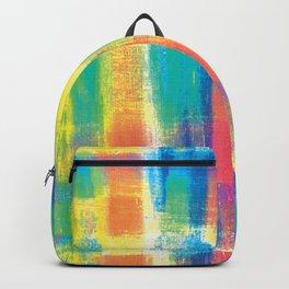 Rainbow Plaid Backpack