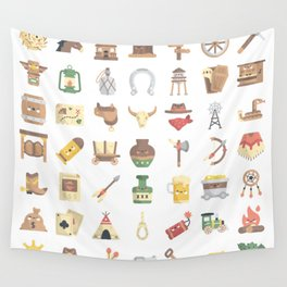 CUTE WILD WEST / COWBOY PATTERN Wall Tapestry