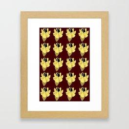 Bellflower - yellow Framed Art Print