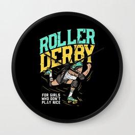 Roller Derby Tshirt I roller skating Wall Clock