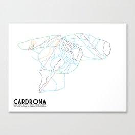 Cardrona, Wanaka, NZ - Minimalist Trail Art Canvas Print