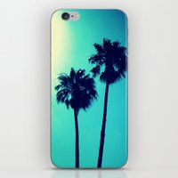 palm trees iPhone & iPod Skins featuring Palm Trees by Derek Fleener