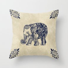 Simple Elephant Throw Pillow
