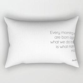 Buddha - Born Again Rectangular Pillow