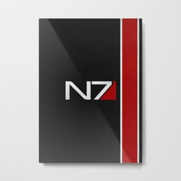 N7 Iconic Design Metal Print