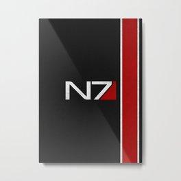 N7 Iconic Design Metal Print