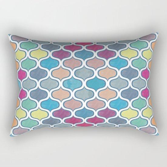 Watercolor Lovely Pattern VVX Rectangular Pillow
