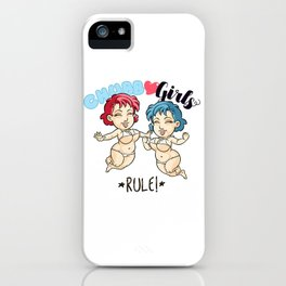 "CHUBBY GIRLS ""Rule!"" iPhone Case"