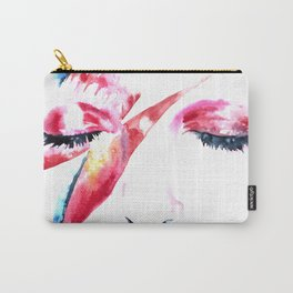 David Bowie - Alladin Sane - by Emma Parrish Carry-All Pouch