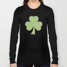 Greenery Shamrock Clover Polka dots St. Patrick's Day Long Sleeve T-shirt
