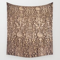 arabic Wall Tapestries featuring Arabic Patterns by Laurais Arts